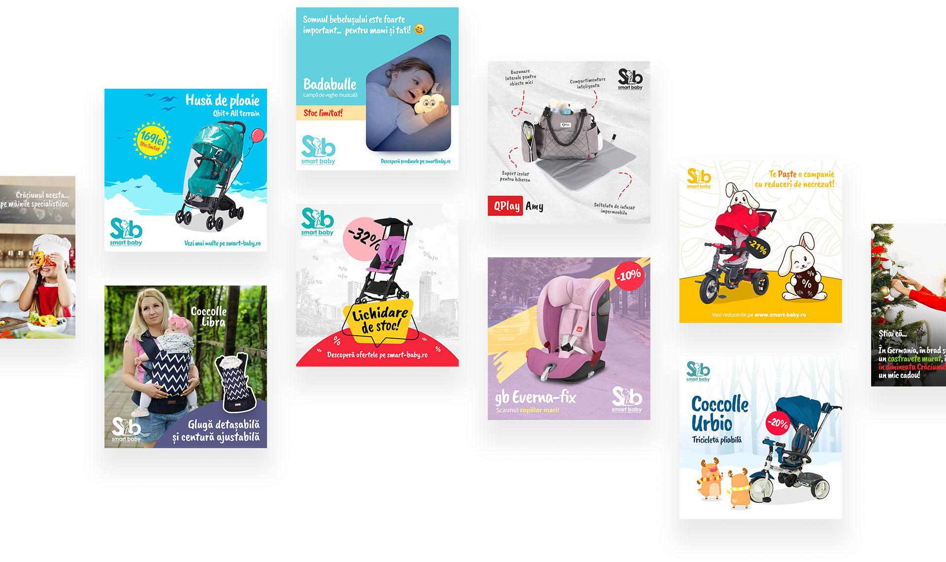 Cromatic Design -Cromatic Design - Bannere social media pentru Smart Baby