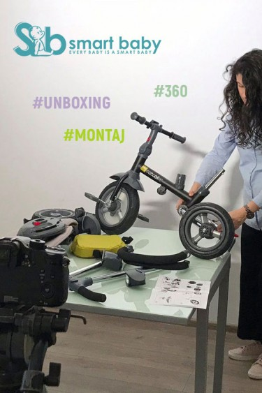 unboxing cu 360 tricicleta Coccolle Velo